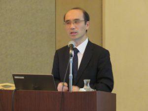 講演する清水丈典日本銀行山形事務所長