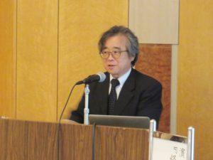 講演する鶴岡工業専門学校学校長 高橋幸司氏